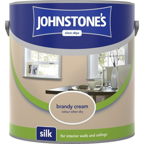 Johnstones 2.5l Silk Emulsion, Brandy Cream