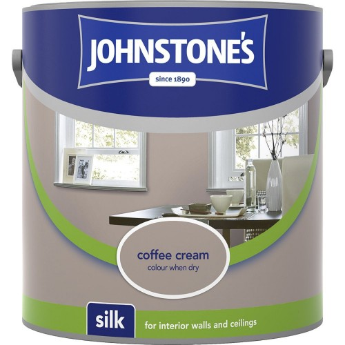 Johnstones 2.5l Silk Emulsion, Coffee Cream