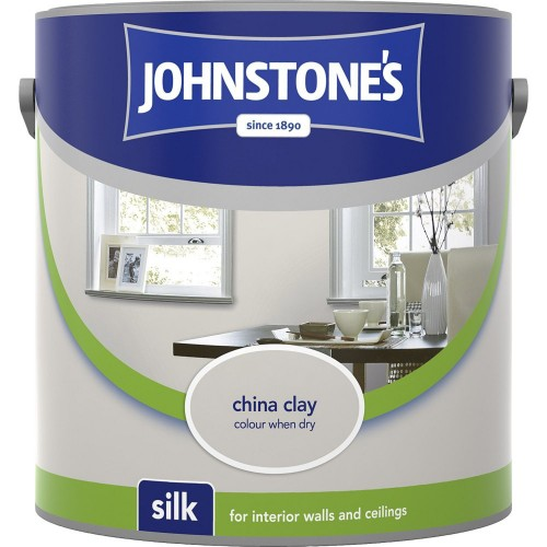 Johnstones 2.5l Silk Emulsion, China Clay
