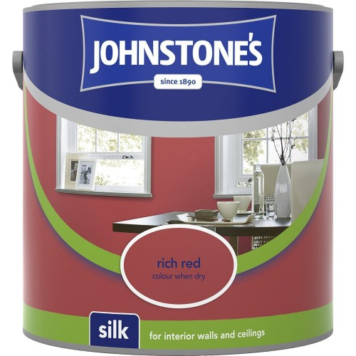 Johnstones 2.5l Silk Emulsion, Rich Red