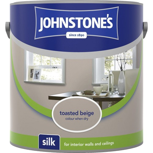 Johnstones 2.5l Silk Emulsion, Toasted Beige