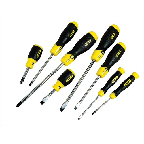 Stanley Set of 8 Cushion Grip Screwdrivers