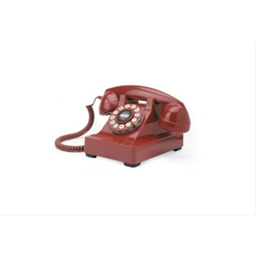 Series 302 Red 1930's Desk Telephone