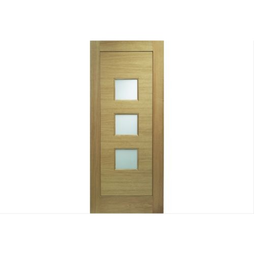 XL Joinery External Oak Obscure Glass Door