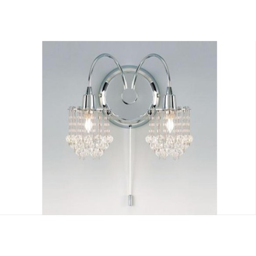 Crystal Drop Wall Light - Chrome