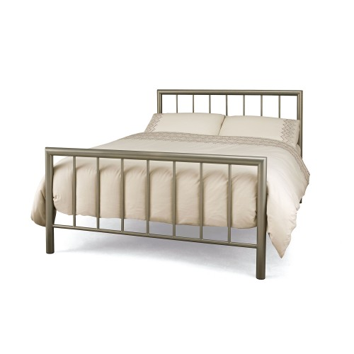 Casa Modena Small Double Bed Frame, Champagne