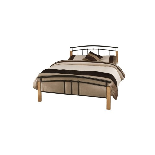 Casa Tetras Beech Double Bed Frame, Black