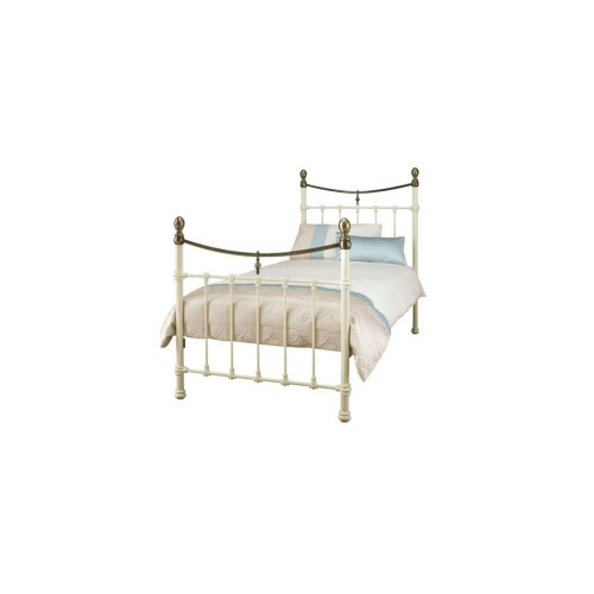 Casa Edwardian II Double Bed Frame, White
