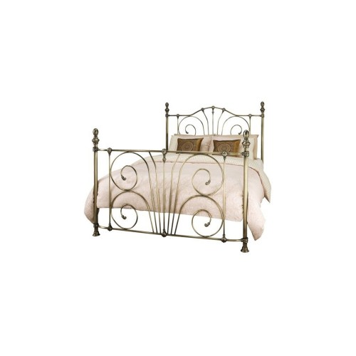 Casa Jessica Double Bed Frame, Antique Brass