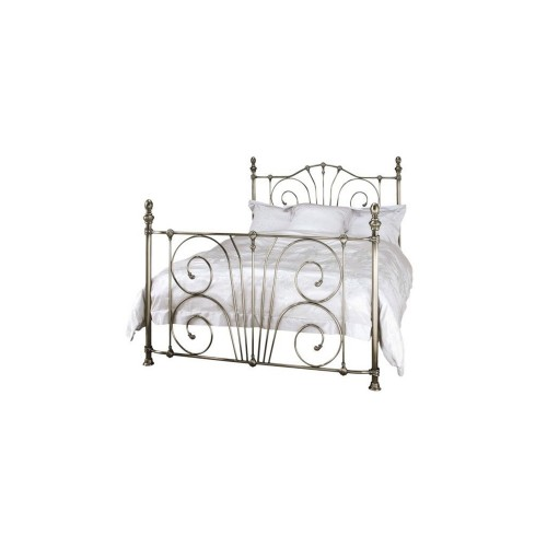 Casa Jessica Double Bed Frame, Antique Nickle