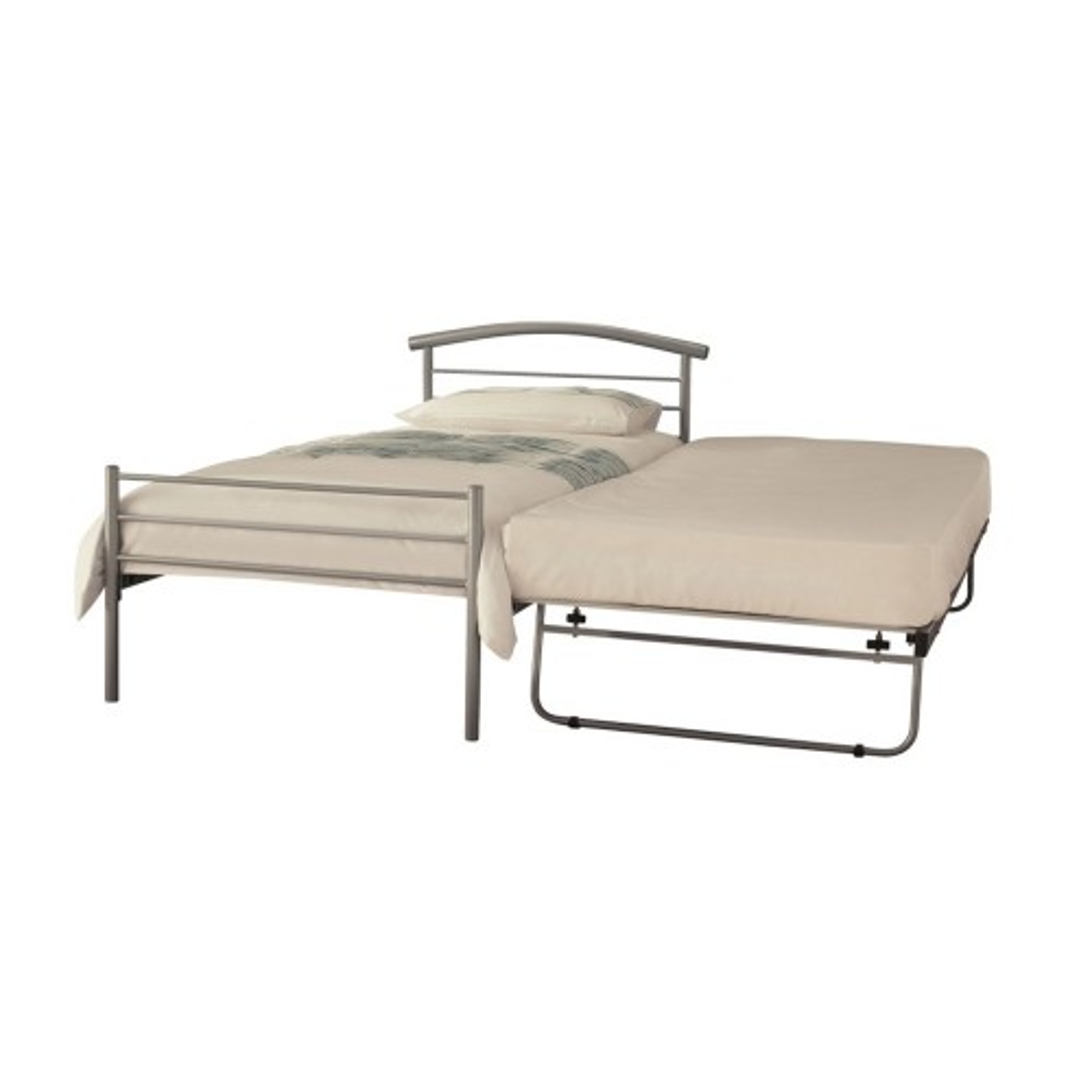 Casa Brennington Single Guest Bed, Silver