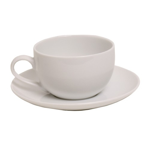 Casa White Large Coup Cup & Saucer