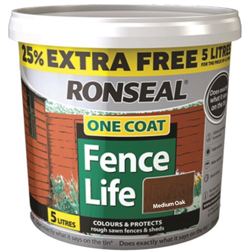 Ronseal 5l One Coat Sprayable Fence Life