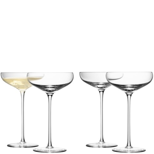 LSA Champagne Saucers, Set of 4