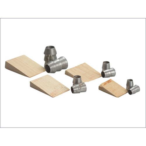 Faithfull Assorted Hammer Wedge's Pack of 12