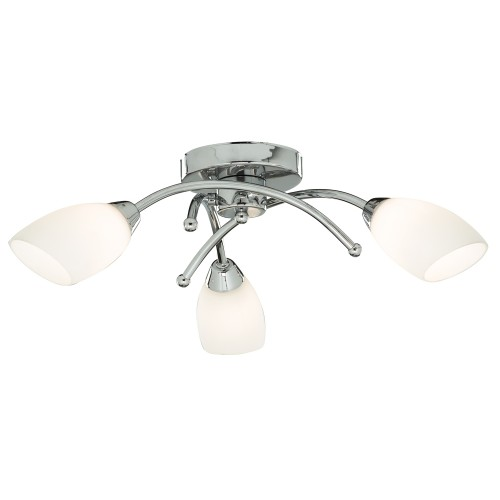 Opera 3 Light Ceiling Light, Chrome