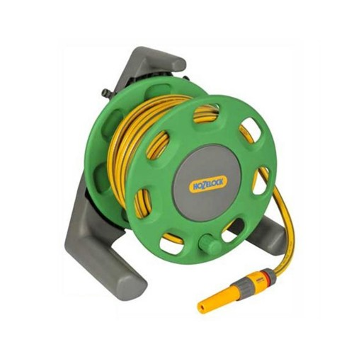 Hozelock 30 Metre Compact Floor Standing Hose Reel with Hose Pipe