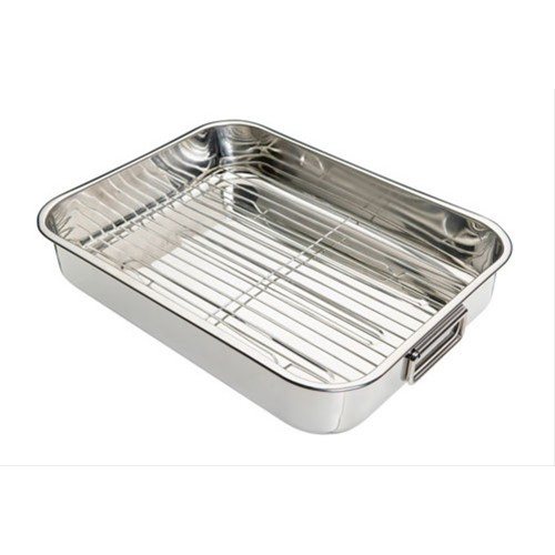 Kitchen Craft Stainless Steel 40cm x 30cm Roasting Pan