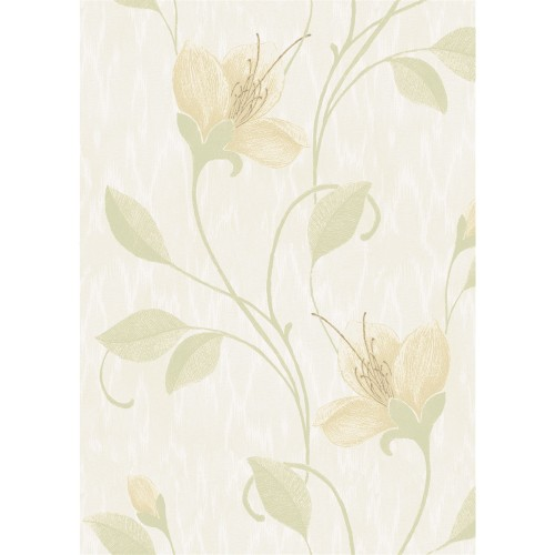 Opus Italian Vinyl Juliet Green Wallpaper