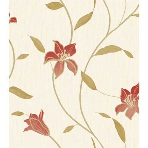 Opus Italian Vinyl Loretta Red Wallpaper