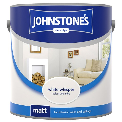 Johnstones 2.5l Matt Emulsion, White Whisper
