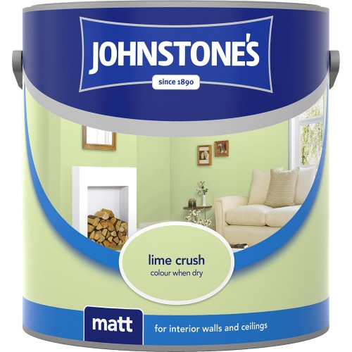 Johnstones 2.5l Matt Emulsion, Lime Crush