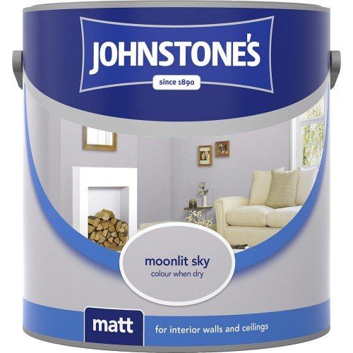 Johnstone 2.5l Matt Emulsion, Moonlit Sky