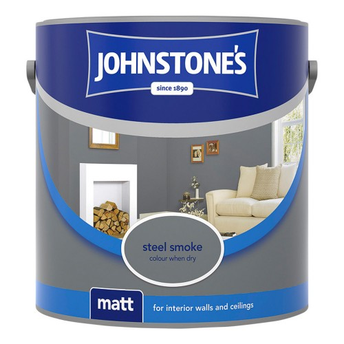 Johnstone 2.5l Matt Emulsion, Steel Smoke