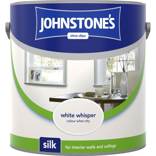 Johnstone 2.5l Silk Emulsion, White Whisper
