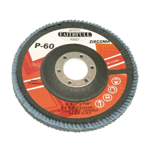 Faithfull 115x22mm Fine Flap Disc