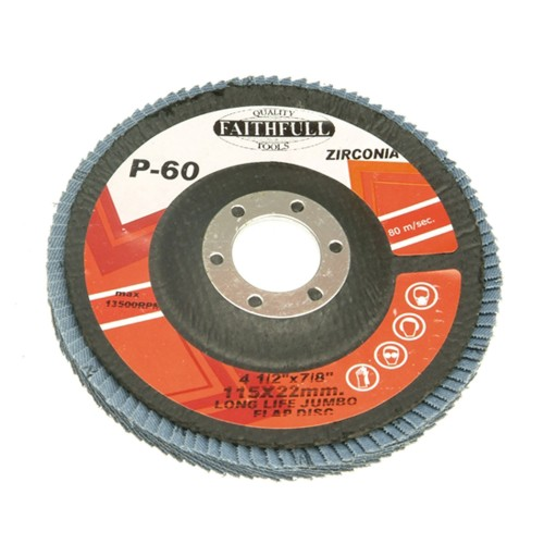 Faithfull 115x22mm  Coarse Flap Disc