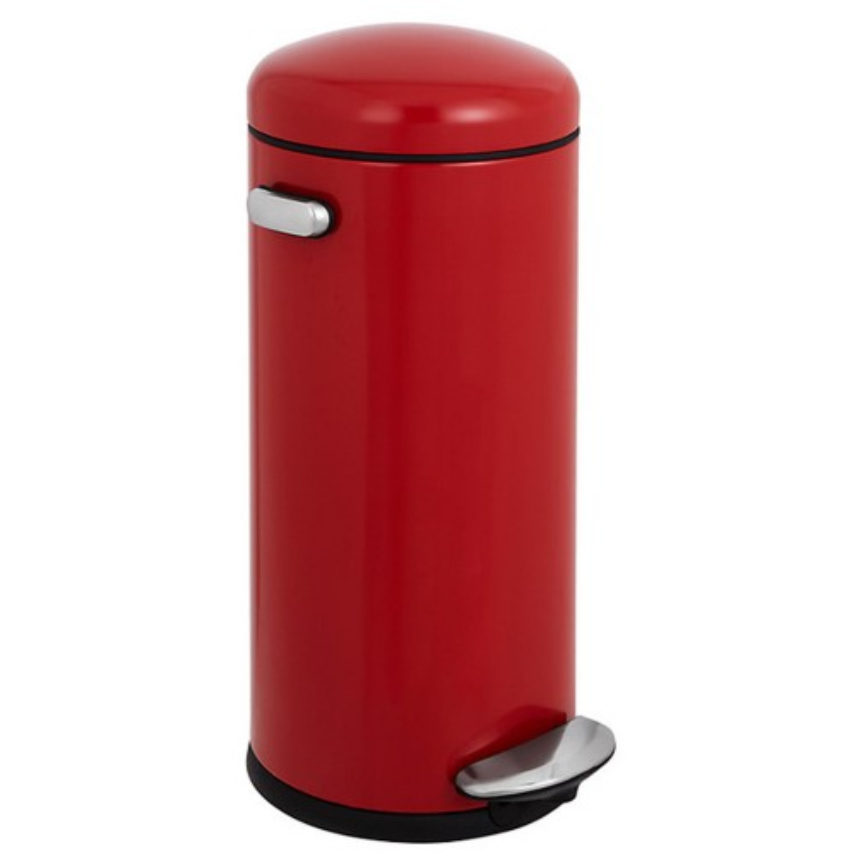 Simplehuman 30L Retro Bin Red