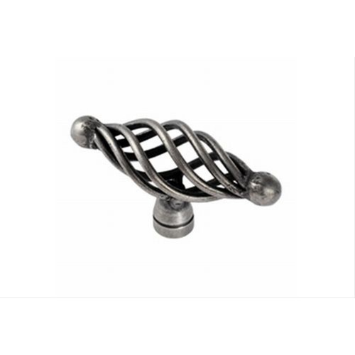 65mm Diameter Oval Cage Traditional Cupboard Knob, Pewter Effect