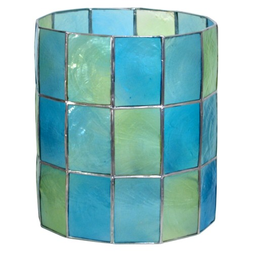 Casa Capiz Cylinder shade in Teal