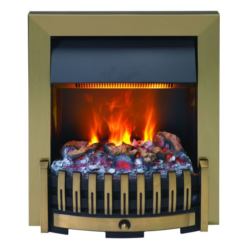 Dimplex Danville Opti Myst Fire, Antique Brass