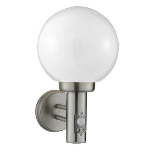 Outdoor Wall Globe Sensor, Stainless Steel
