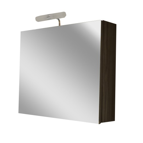 Casa Venice Mirrored Bathroom Cabinet, Grey Ash