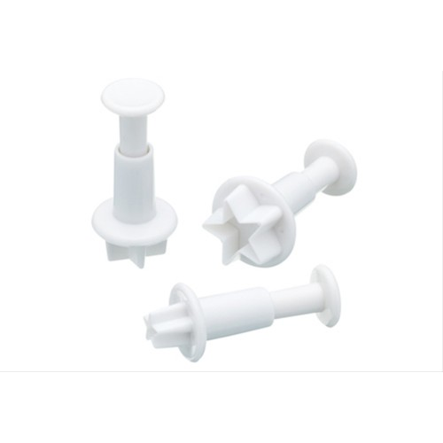Sweetly Does It Set of Three Star Fondant Plunger Cutters