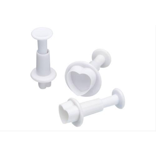 Sweetly Does It Set of Three Heart Fondant Plunger Cutters