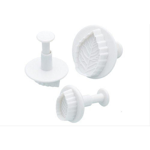 Sweetly Does It Set of Three Leaf Fondant Plunger Cutters