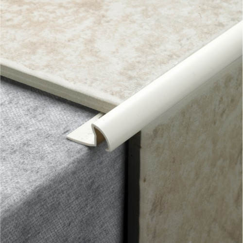 9.5mm Profile Plus Deep Tile Edging, Soft Peach