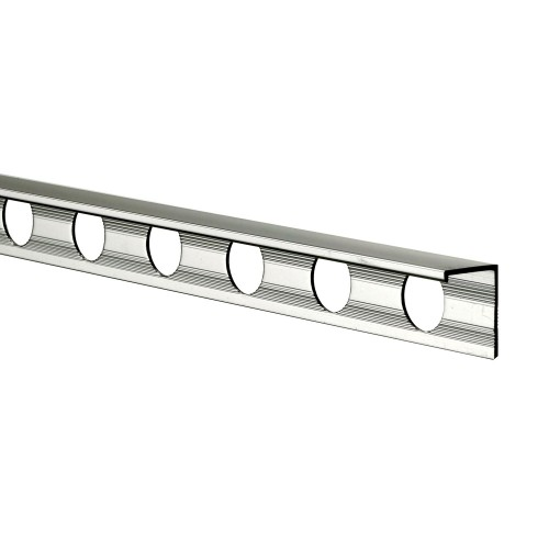 12mm Aluminium L Shaped Tile Trim, Silver