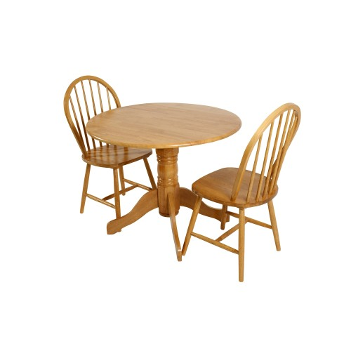 Casa Brecon Table And 2 Windsor Chairs