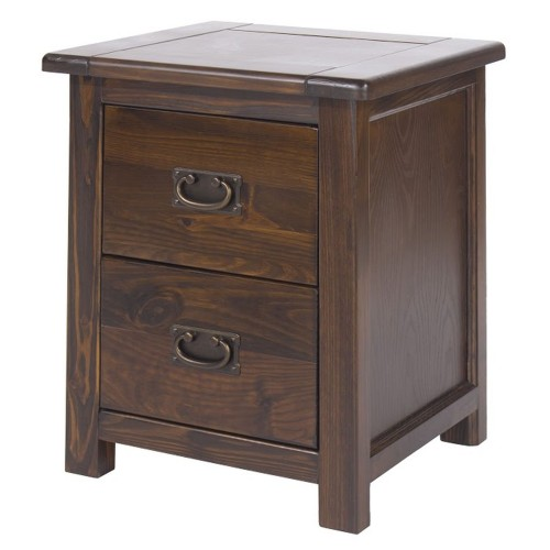 Boston 2 Drawer Bedside Cabinet