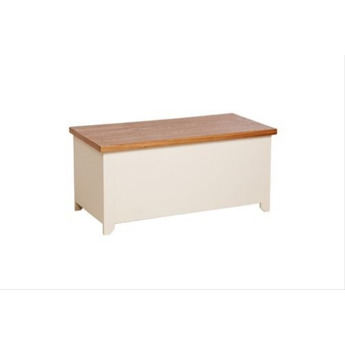 Jamestown Ottoman, Cream/Mellow Oak