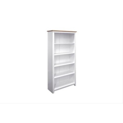 Capri Tall Bookcase, Waxed Pine/White