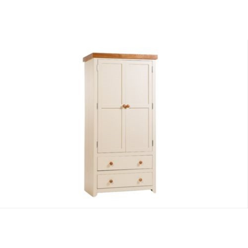 Jamestown 2 Door 2 Drawer Wardrobe, Cream/Mellow Oak