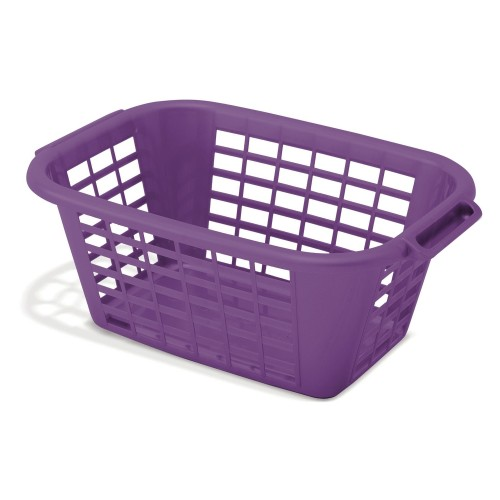 Addis Rectangular Laundry Basket, Purple