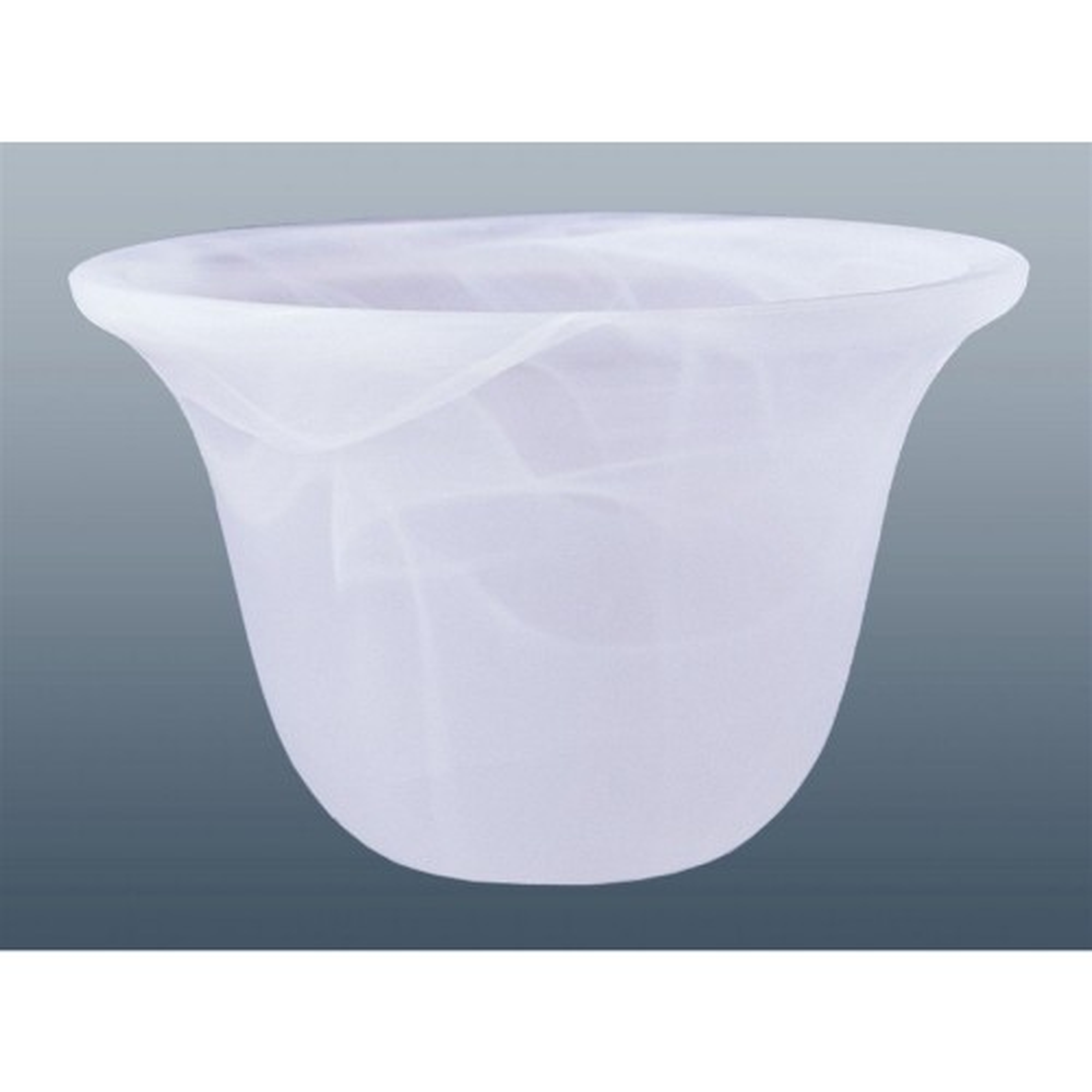 """6"""" Murano Glass Shade, White"""