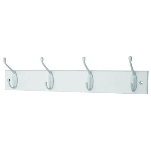 Headbourne 4 Hat and Coat Hooks on Slimline White Board